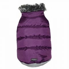 warm dog coat for large dogs from DoggyDolly Purple