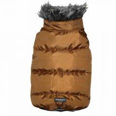 golden brown dog coat for large dogs from DoggyDolly dog fashions