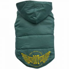 Dogs garment for large dogs - Big Dog dog anorak, green warm dog coat for large dogs