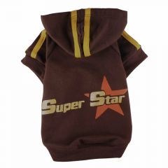 Big Dog Dog sweater with hood - hesitate superstar brown Hundepullover for large dogs at the center