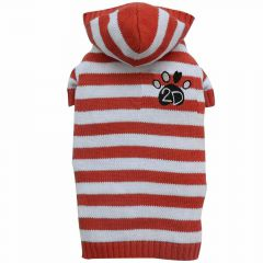 dogs jumper Austria hooded Red White Red