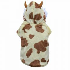 Dog coat of DoggyDolly - dog clothing brown cow