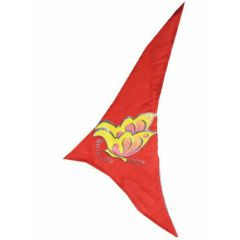 Triangle scarf for dogs - red with butterfly