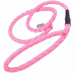 GogiPet® fabric dog leash braided pink