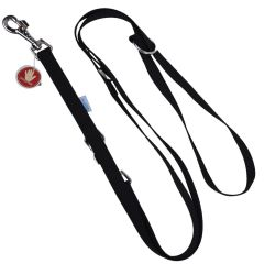Black, adjustable leash for dogs from GogiPet