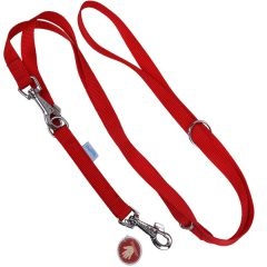 Red, adjustable length lead for dogs from GogiPet