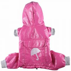 Dog raincoat pink with 4 legs by DoggyDolly DR016