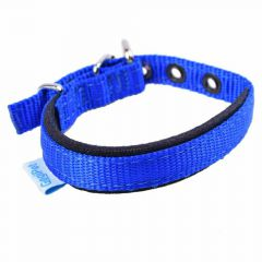 Comfort textile dog collar blue 35 cm by GogiPet ®