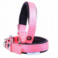 Comfort textile dog collar pink 35 cm by GogiPet ®