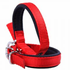 Comfort textile dog collar red 35 cm by GogiPet ®