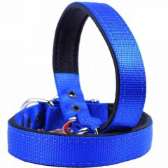 GogiPet ® textile dog collar blue 50 cm