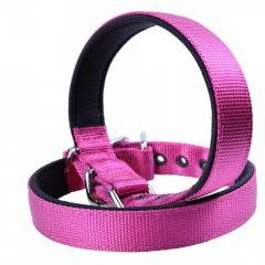 GogiPet ® textile dog collar purple 50 cm