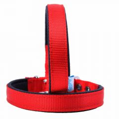 GogiPet ® textile dog collar red 50 cm