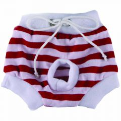 DoggyDolly Protective Panties for Dogs 'red - white - red