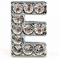 E rhinestone letter with 14 mm