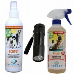Urine smell remover combination package + stain detector - 25% discount