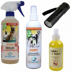 Cat Repellent Spray And Urinde Smell Revmoer Combinatin Package