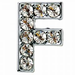 F rhinestone letter with 14 mm