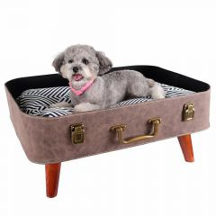 Beautiful dog bed in the form of a suitcase