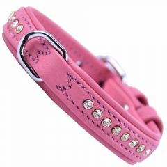 Pink Swarovski dog collar