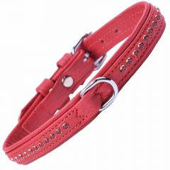 GogiPet® Swarovski Ruby Dog Collar