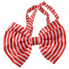 Bow tie for dogs red white striped