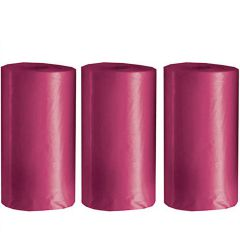 Dog excrement bags in a pack of 3 - biodegradable bags for the cackle in pink for your dog excrement bag dispenser