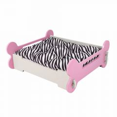 Wooden dog bed - Pink L