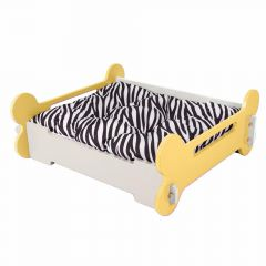 Wooden dog bed - Yellow bone bed M