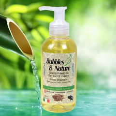 Bubbles & Nature Gloss dog shampoo for short-haired dogs