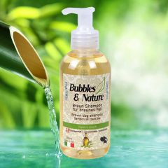 Bubbles & Nature super brown dog shampoo
