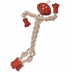 Dog toy GogiPet ® Naturetoy little man with 41 cm red