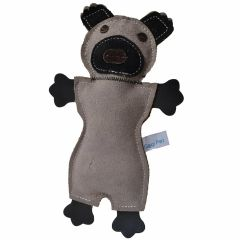 GogiPet ® dog toy - Grey Opossum made of genuine leather
