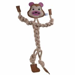 Dog toy of GogiPet ® - monkey from natural materials