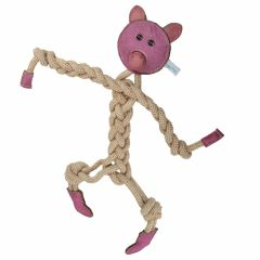 Dog toy of GogiPet ® - piggy from natural materials