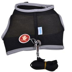 Black soft harness for cats and puppies