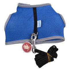 Blue soft harness for cats and puppies
