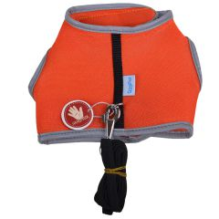Orange soft harness for cats and puppies