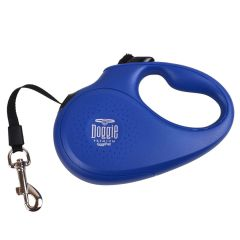 Blue roll-up leash from the GogiPet Doggie Premium Series