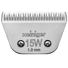 Wide blade 15W from Heiniger with 1,0 mm for horse and dog clipping