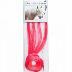 Accesssoires for horses - dark pink hair for horses - horse jewelry of modern hair of the mane of the horse and the horse tail - Hair extension