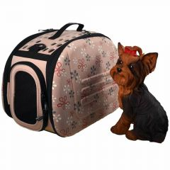 Good dog carrier Tuscany in pink for dogs and cats