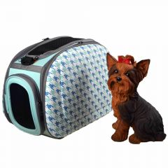 Good dog bag with system in blue recommended by GogiPet