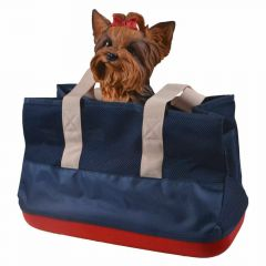 Dark blue dog carrier recommended by GogiPet