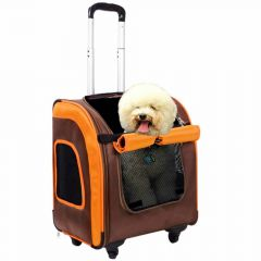 Comfortable dog trolley and dog pack for travel