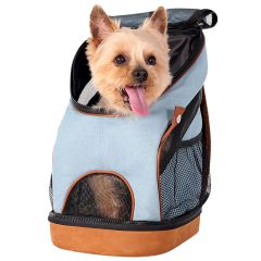 Blue Jeans Dog Backpack for Small Dogs