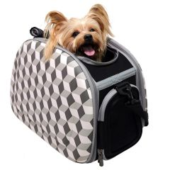 Good dog carrier with 3D effect recommended by GogiPet