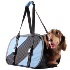 Comfortable dog carrier with comfortable handle