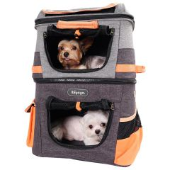 Dog backpack for 2 dogs