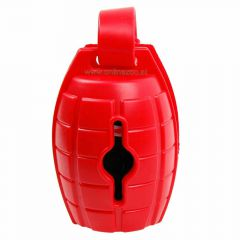 Dog waste bag dispenser red grenade